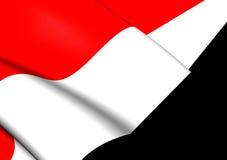 flagga yemen vektor illustrationer