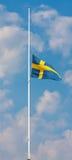 flaggabegravning Arkivfoto