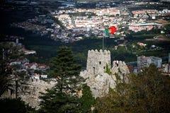 flaggafästningmauritanian torn Royaltyfria Bilder