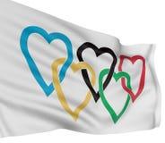flaggaförälskelse Royaltyfria Bilder