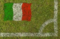 flaggafotboll royaltyfri foto