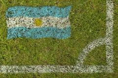 flaggafotboll royaltyfria bilder