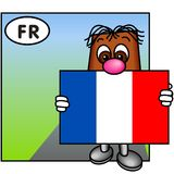 flaggafrance tricolore royaltyfri illustrationer