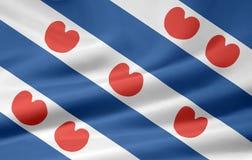 flaggafriesland Nederländerna Royaltyfria Bilder