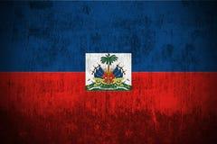 flaggagrunge haiti Royaltyfri Bild