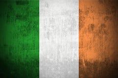 flaggagrunge ireland vektor illustrationer
