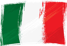 flaggagrunge italy Royaltyfria Bilder