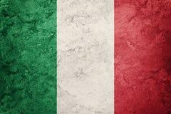 flaggagrunge italy Italiensk flagga med grungetextur Fotografering för Bildbyråer