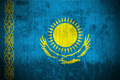 flaggagrunge kazakhstan royaltyfri illustrationer
