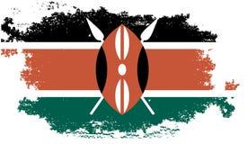 flaggagrunge kenya royaltyfri illustrationer