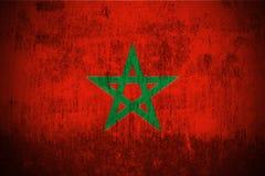 flaggagrunge morocco royaltyfri illustrationer