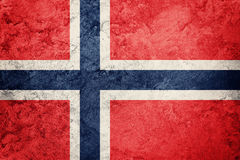 flaggagrunge norway Norge flagga med grungetextur Arkivfoton