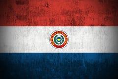 flaggagrunge paraguay royaltyfri illustrationer