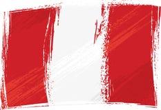 flaggagrunge peru Royaltyfria Bilder