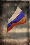 flaggagrunge russia Arkivbild