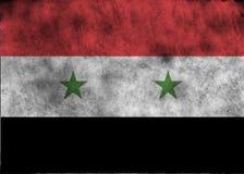 flaggagrunge syria Royaltyfria Bilder