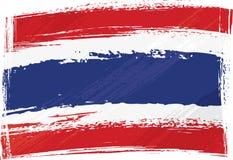 flaggagrunge thailand vektor illustrationer