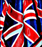 flaggagrunge uk royaltyfri illustrationer