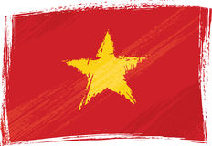 flaggagrunge vietnam Royaltyfri Bild