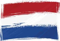 flaggagrungeNederländerna vektor illustrationer