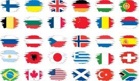 flaggagrungeset Royaltyfri Foto