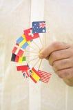 flaggahanduppvisning Royaltyfria Foton