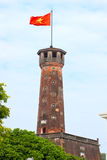 flaggahanoi torn vietnam Arkivbild