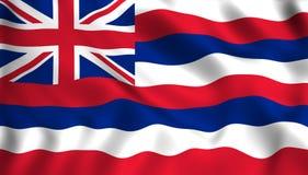 Flaggahawaii USA statligt symbol royaltyfri illustrationer