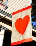 flaggahjärta Royaltyfria Bilder