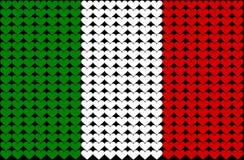flaggahjärta italy Arkivbild