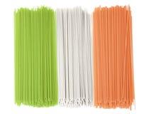 flaggaitaly spagetti royaltyfri bild
