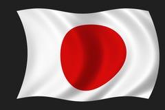 flaggajapan Arkivfoto