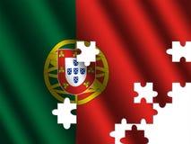 flaggajigsaw skvalpade portugal royaltyfri illustrationer