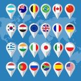 Flaggaknappar Arkivfoto