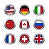 Flaggaknappuppsättning 1 Fotografering för Bildbyråer