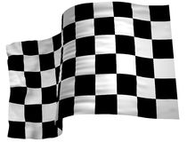 Flaggakontrollörfullföljande royaltyfria bilder
