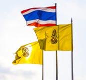 flaggakonung thailand Royaltyfria Bilder