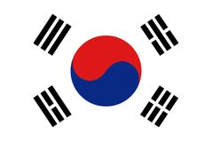 flaggakorea republik royaltyfri illustrationer