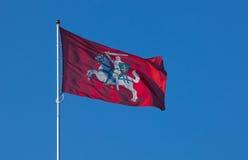 flaggalithuanian Fotografering för Bildbyråer