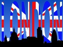 flaggalondon horisont royaltyfri illustrationer