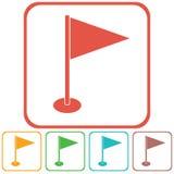 Flaggamarkörsymbol Arkivfoton