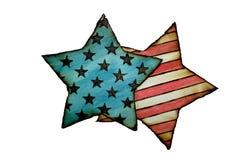 Flaggan av Amerika brände trä Royaltyfri Fotografi