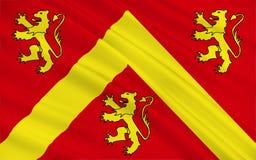 Flaggan av Anglesey eller Ynys måndag är ön av Wales stock illustrationer