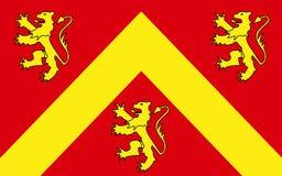 Flaggan av Anglesey eller Ynys måndag är ön av Wales arkivfoton