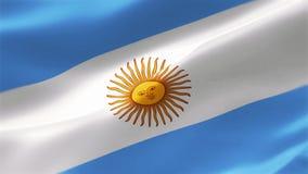 Flaggan av Argentina är en triband som komponeras av tre lika breda horisontalmusikband färgade Carolina blått och vit royaltyfri illustrationer