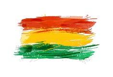 Flaggan av Bolivia gjorde med färgrika färgstänk Royaltyfri Fotografi
