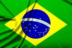 Flaggan av Brasilien arkivbild