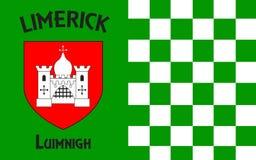 Flaggan av den ståndsmässiga limericket är ett län i Irland arkivfoton