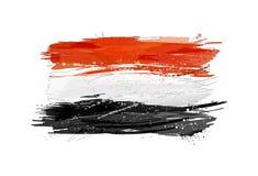 Flaggan av Egypten gjorde med färgrika färgstänk Fotografering för Bildbyråer