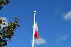 Flaggan av Frankrike Royaltyfri Foto